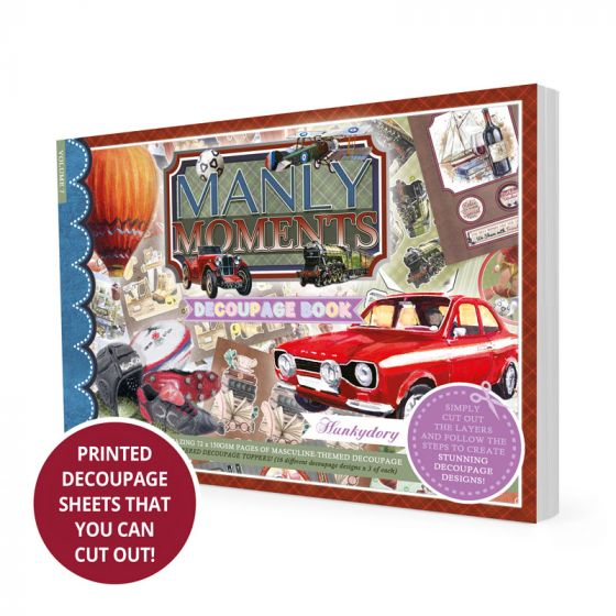 Manly Moments Decoupage Book