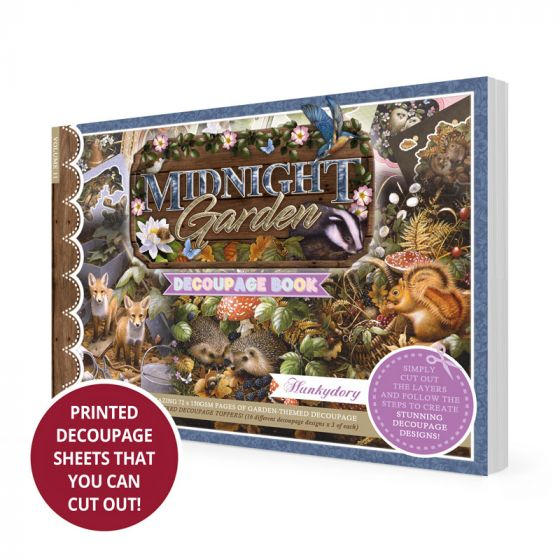 Midnight Garden Decoupage Book