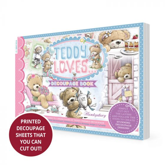 Teddy Loves Decoupage Book