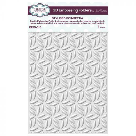 3D Embossing Folder by Sue Wilson - Stylised Poinsettia