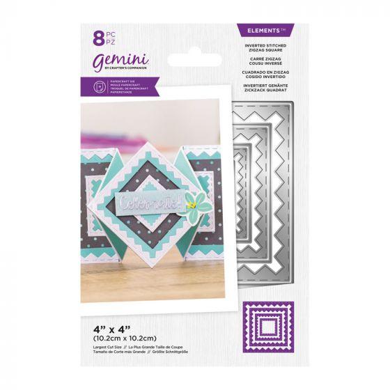 Gemini - Metal Die - Elements - Inverted Stitched ZigZag Square