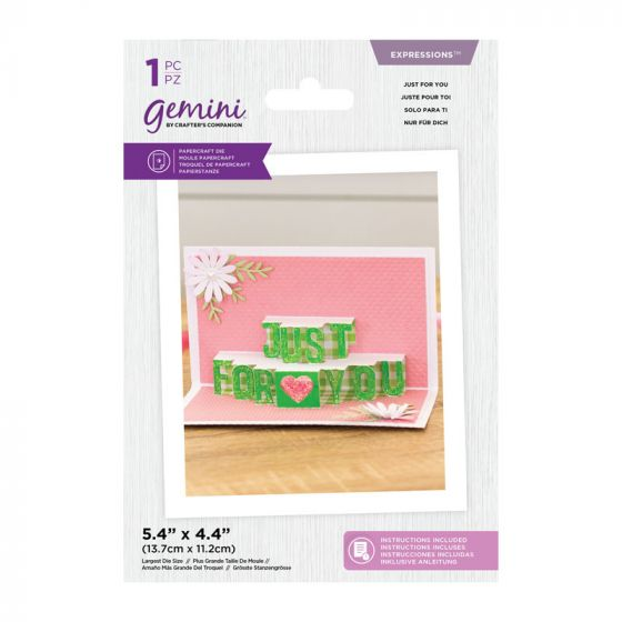 Gemini Die - Expressions - Shaped Pop Out - Just For You