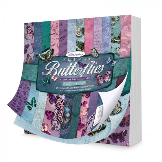 "Flight of the Butterflies Platinum Edition 8""x8"" Paper Pad"