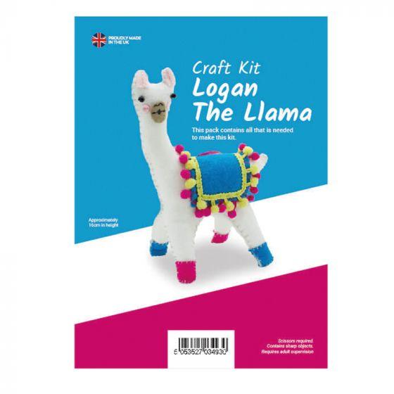 Logan the Llama Felt Kit (approx 16cm tall)