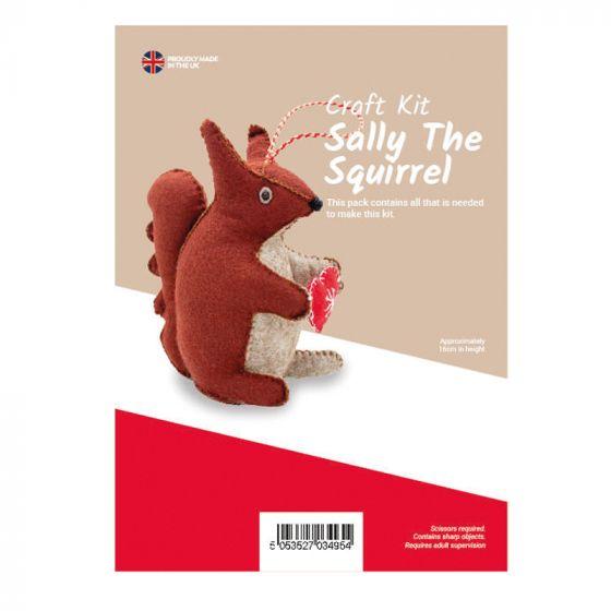 Sally The Squirrel Felt Kit (approx 16cm tall)