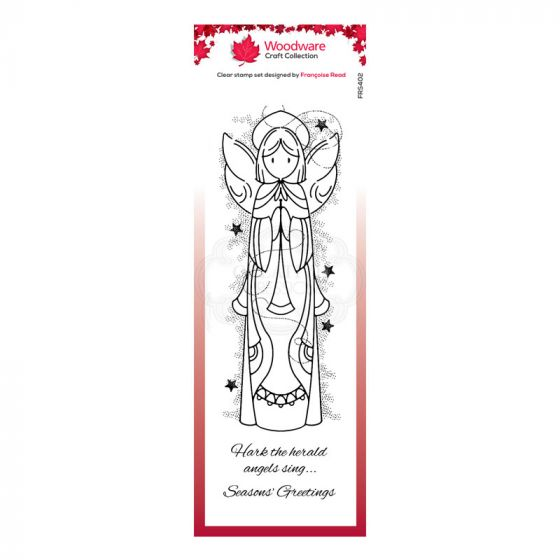"Woodware Festive Clear Stamp - Celestial Angel (8"" x 2.6"")"