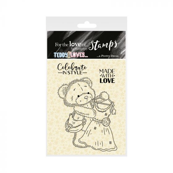 For the Love of Stamps - Teddy Loves... A Pretty Dress