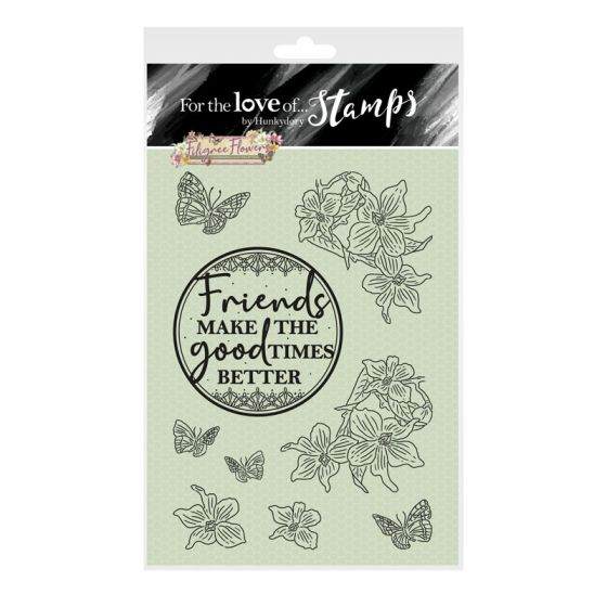 For the Love of Stamps - Filigree Flowers - Violet