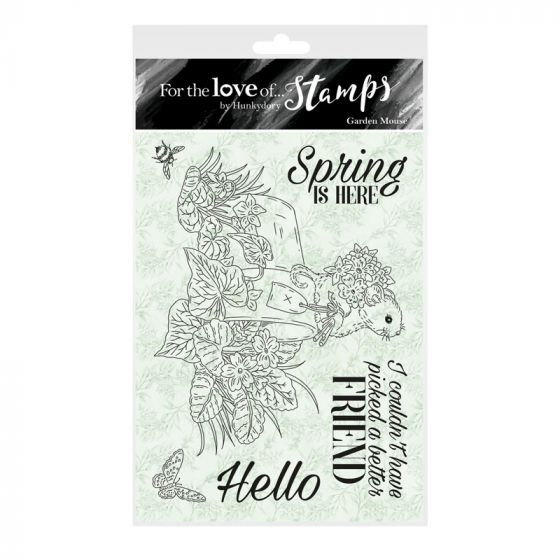 For the Love of Stamps - Garden Mouse