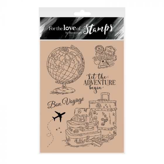 For the Love of Stamps - Around the Globe A6 Stamp Set