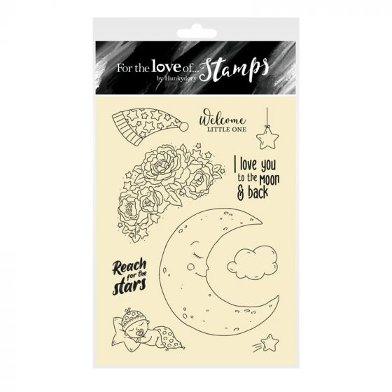 For the Love of Stamps - Love You to the Moon A6 Stamp Set