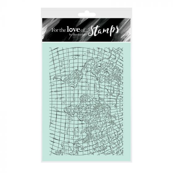 For the Love of Stamps - Travel Map A6 Background Stamp Set