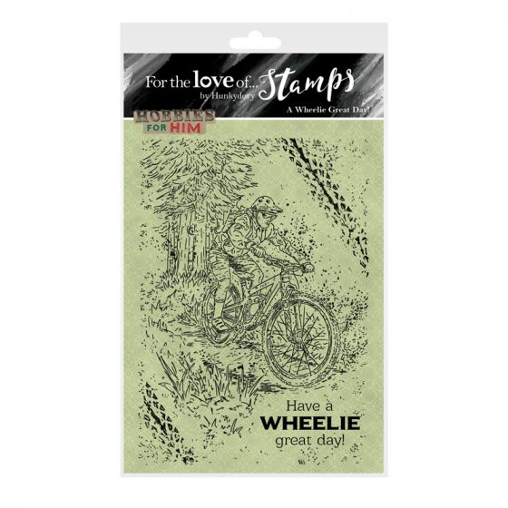 For the Love of Stamps - A Wheelie Great Day! A6 Stamp Set