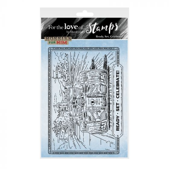 For the Love of Stamps - Ready, Set, Celebrate! A6 Stamp Set