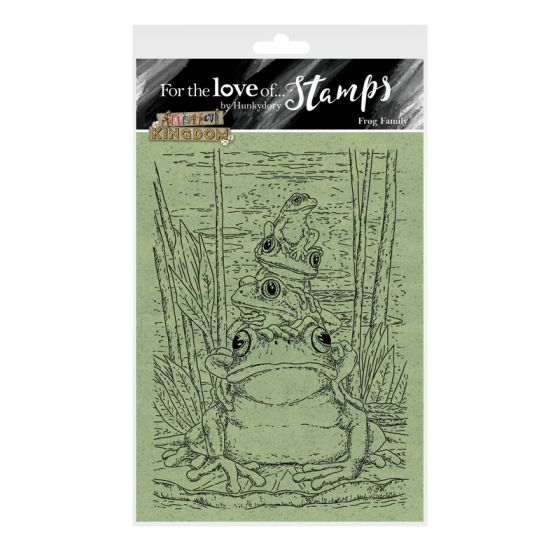 For the Love of Stamps - Frog Family A6 Stamp Set