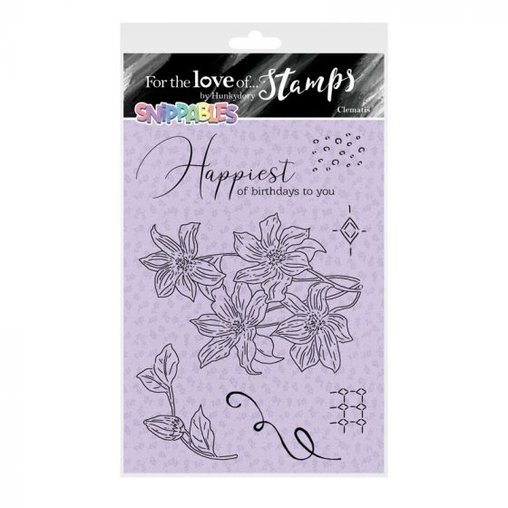 For the Love of Stamps - Floral Favourites Snippables - Clematis