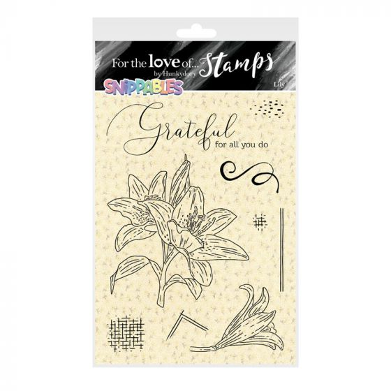 For the Love of Stamps - Floral Favourites Snippables - Lily