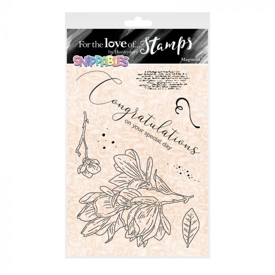 For the Love of Stamps - Floral Favourites Snippables - Magnolia