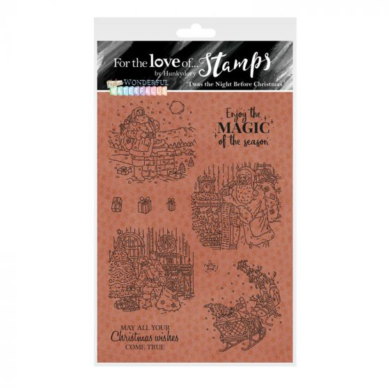 For the Love of Stamps - 'Twas the Night Before Christmas A6 Stamp Set