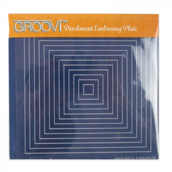 Groovi A5 Plate - Nested Squares
