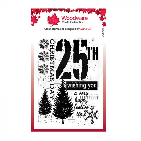 Woodware Festive Clear Stamp - Music for Christmas