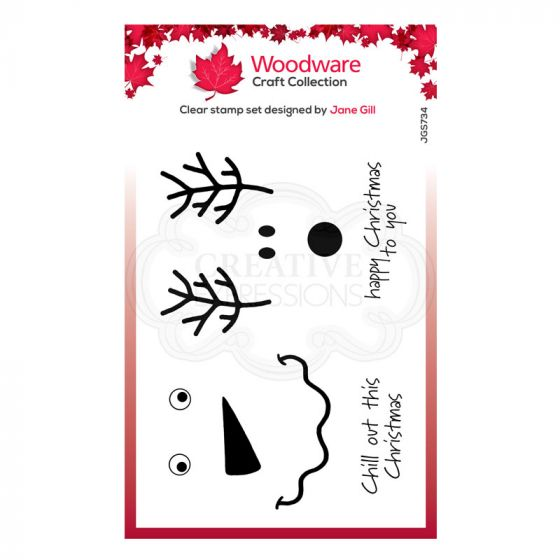 """Woodware Festive Clear Stamp - Festive Faces (6"""" x 4"""")"""