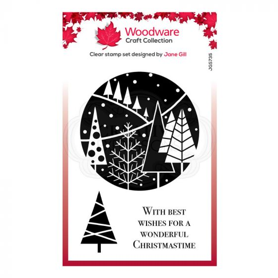 """Woodware Festive Clear Stamp - Festive Circle (6"""" x 4"""")"""