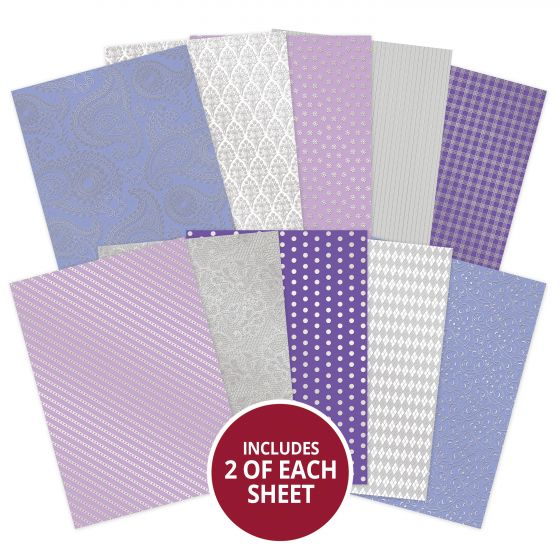 Lilac Dreams Luxury Foiled Cardstock