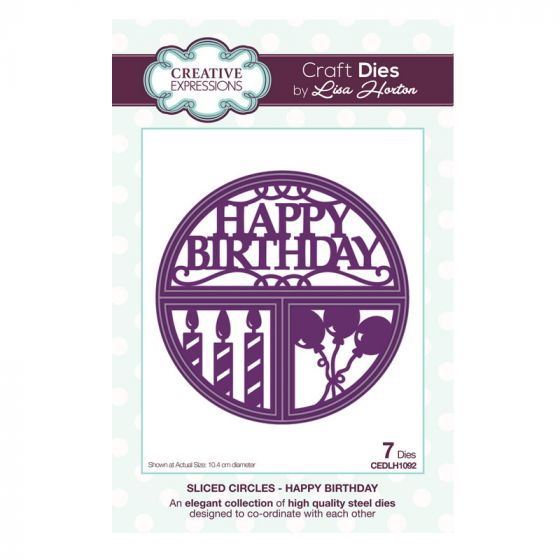 Sliced Circles Happy Birthday Craft Die