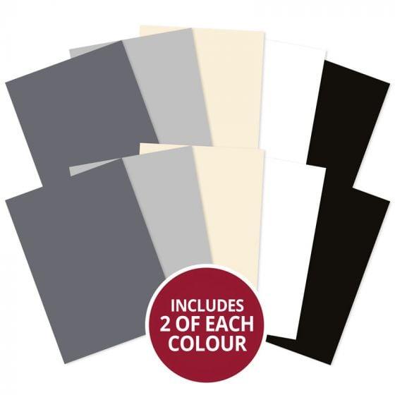 Matt-tastic Adorable Scorable A4 Cardstock x 10 sheets - Monochromes