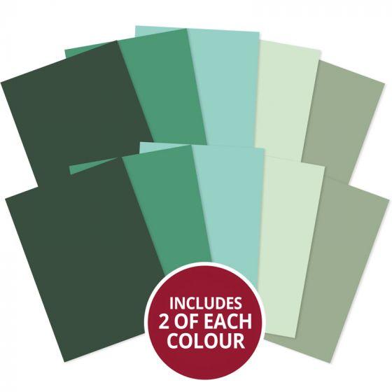 Matt-tastic Adorable Scorable A4 Cardstock x 10 sheets - Greens