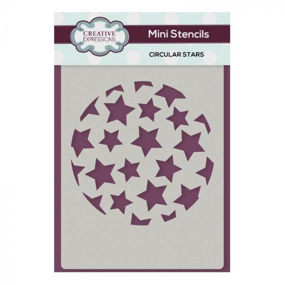 Creative Expressions Mini Stencil Circular Stars