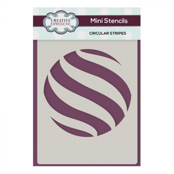 Creative Expressions Mini Stencil Circular Stripes