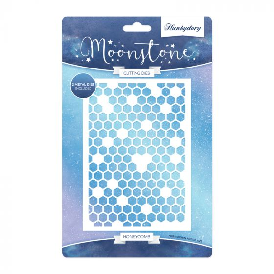 Moonstone Background Dies - Honeycomb