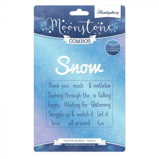 Moonstone Combos - Festive Words - Snow