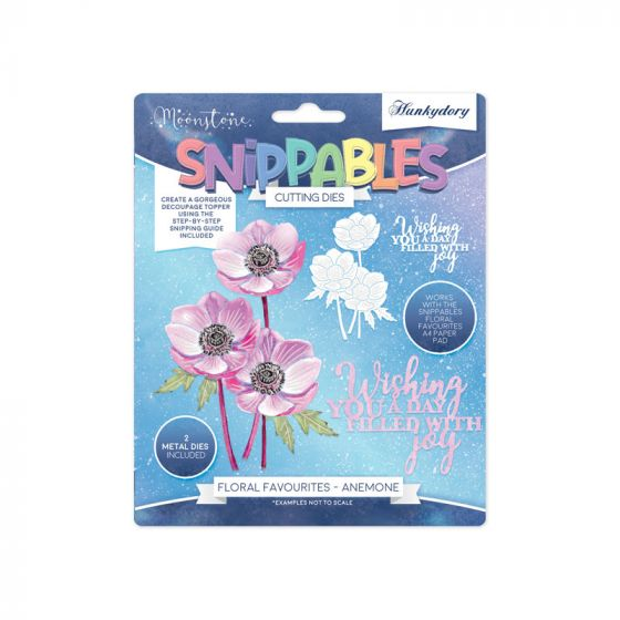 Moonstone Dies - Floral Favourites Snippables - Anemone