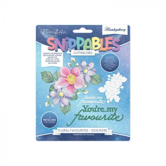 Moonstone Dies - Floral Favourites Snippables - Dog Rose