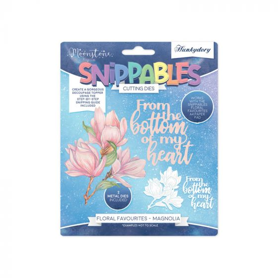 Moonstone Dies - Floral Favourites Snippables - Magnolia