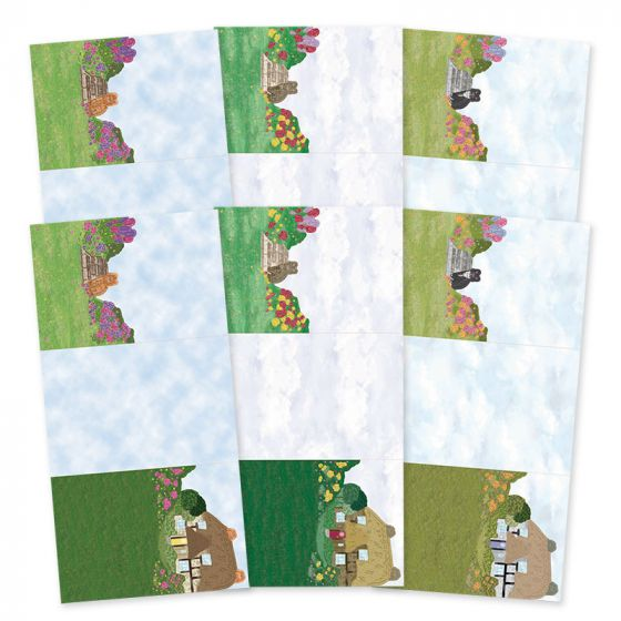 Rural Escapes - Set the Scene Z-Fold Card Blanks - Cottage Retreat