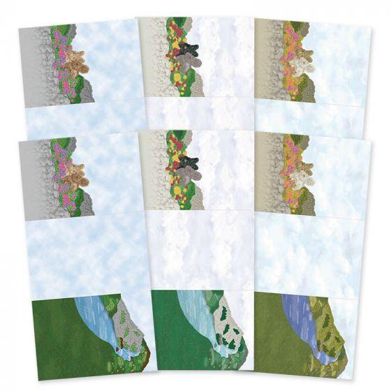 Rural Escapes - Set the Scene Z-Fold Card Blanks - Hillside Walk