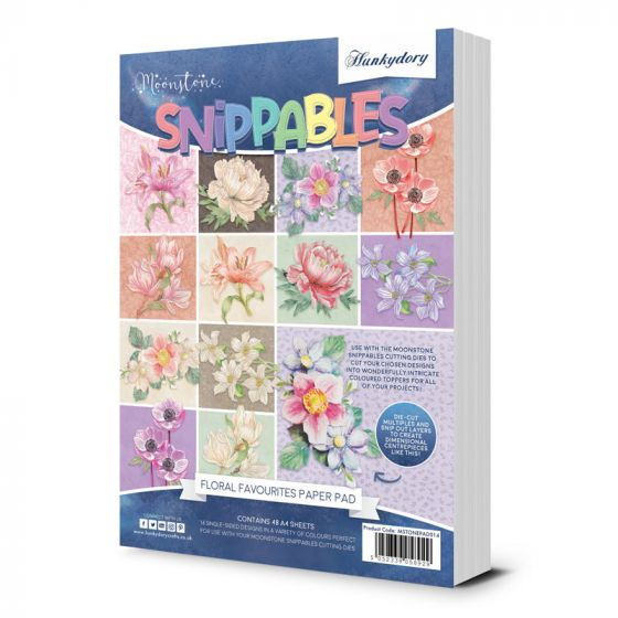 Moonstone Dies - Snippables Floral Favourites A4 Paper Pad