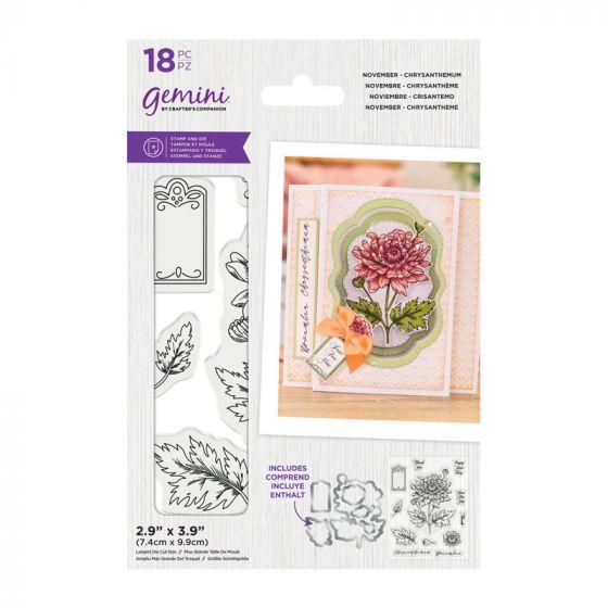 Gemini - Stamp & Die - November - Chrysanthemum
