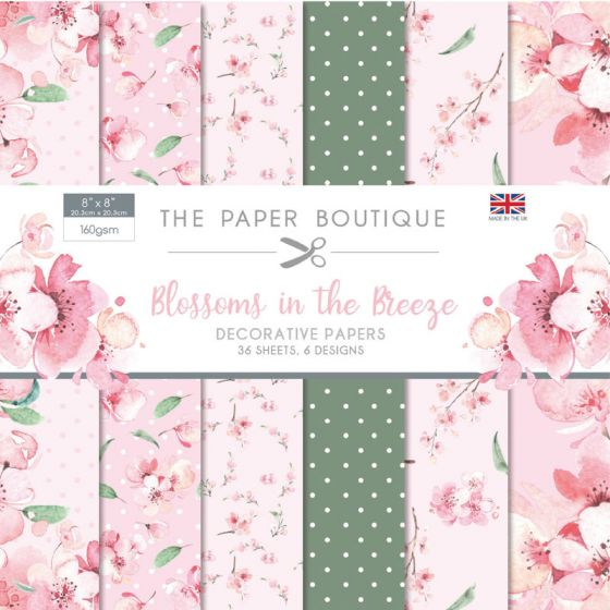 "The Paper Boutique Blossoms in the Breeze 8"" x 8"" Paper Pad"