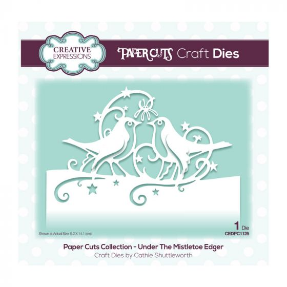 Creative Expressions Paper Cuts Edger Under the Mistletoe Craft Die (1 die size 9.2cm x 14.1cm)