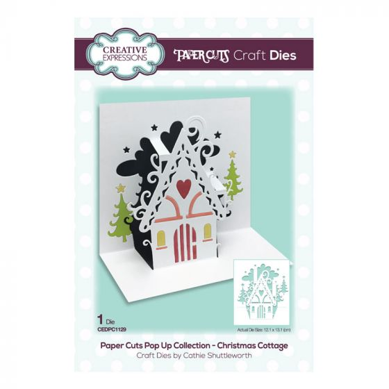 Paper Cuts Pop Up Collection - Christmas Cottage Craft Die