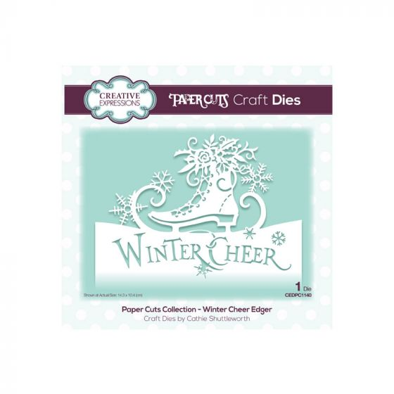 Paper Cuts Winter Cheer Edger Craft Die