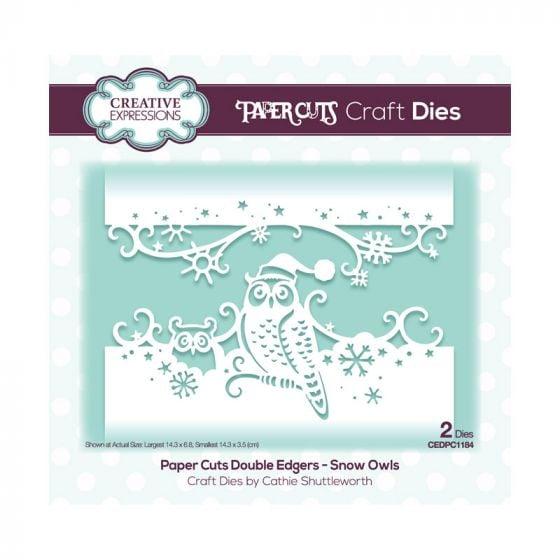 Paper Cuts Festive Double Edger Craft Dies - Snow Owls