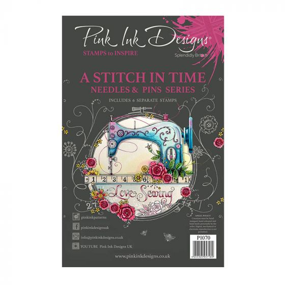 Pink Ink Designs A Stitch in TIme A5 Clear Stamp