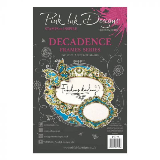 Pink Ink Designs Decadence A5 Clear Stamp Set