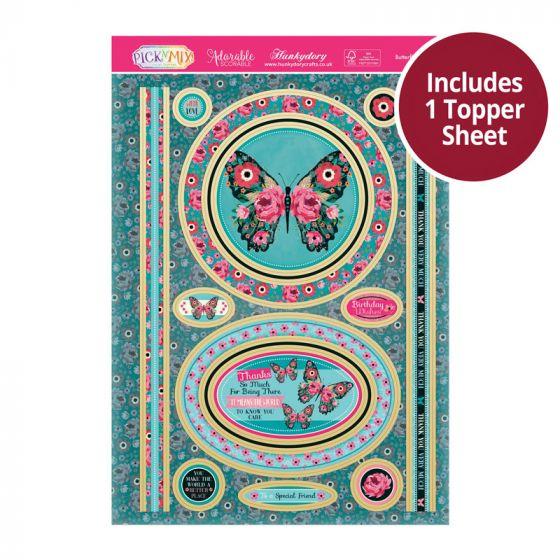 Pick 'N' Mix Topper Sheet - Butterfly Blooms